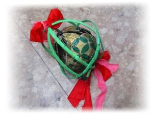 中国獅子舞の鞠